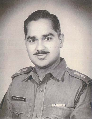 Lt. Col. Jitendra Kumar - 1932-2001 Author - The Black Pom Pom © 1973 ( History of Madras Regiment).