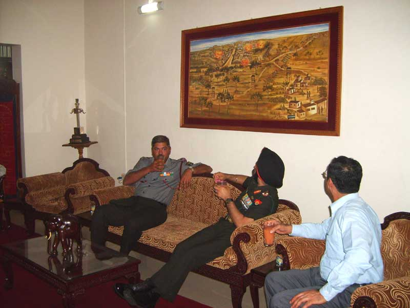 "2007- 3 Madras -Looking at a painting of the 1965 ""Battle of Maharajke"""