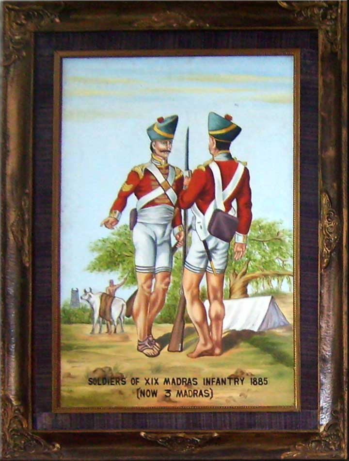 Click here for a larger Image of  1885 Madras Regiment Uniform