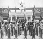 The 9th Madras lays its colours at Chetwode Hall at IMA, Dehra Dun in 1956 - http://www.bharat-rakshak.com/LAND-FORCES/Army/Regiments/9Madras.html