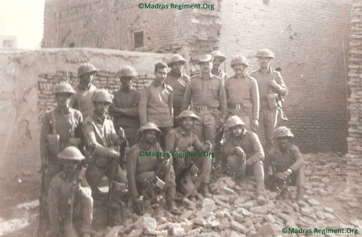 1971 - Indo Pak war - The Delta Company defenders of Kalsian Khurd, (Capt Chandrashekar, Hav Santhiah, Sub.Perumal Pillai etc) who held on to their defensive despite overwhelming odds.