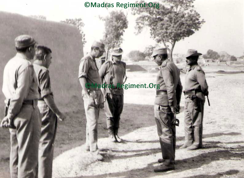 1971 War - Div G.O.C. Maj Gen Freemantle at 3 Madras